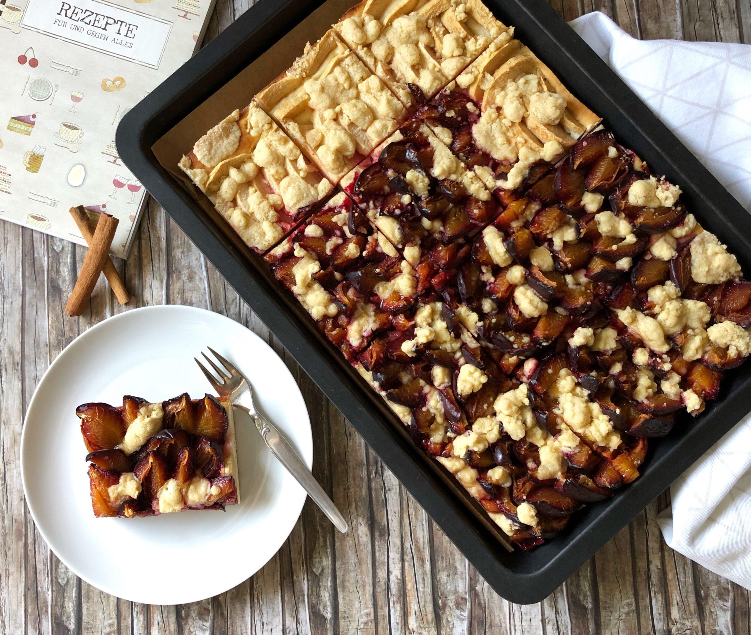 Read more about the article Zwetschgen-Apfelkuchen, glutenfrei