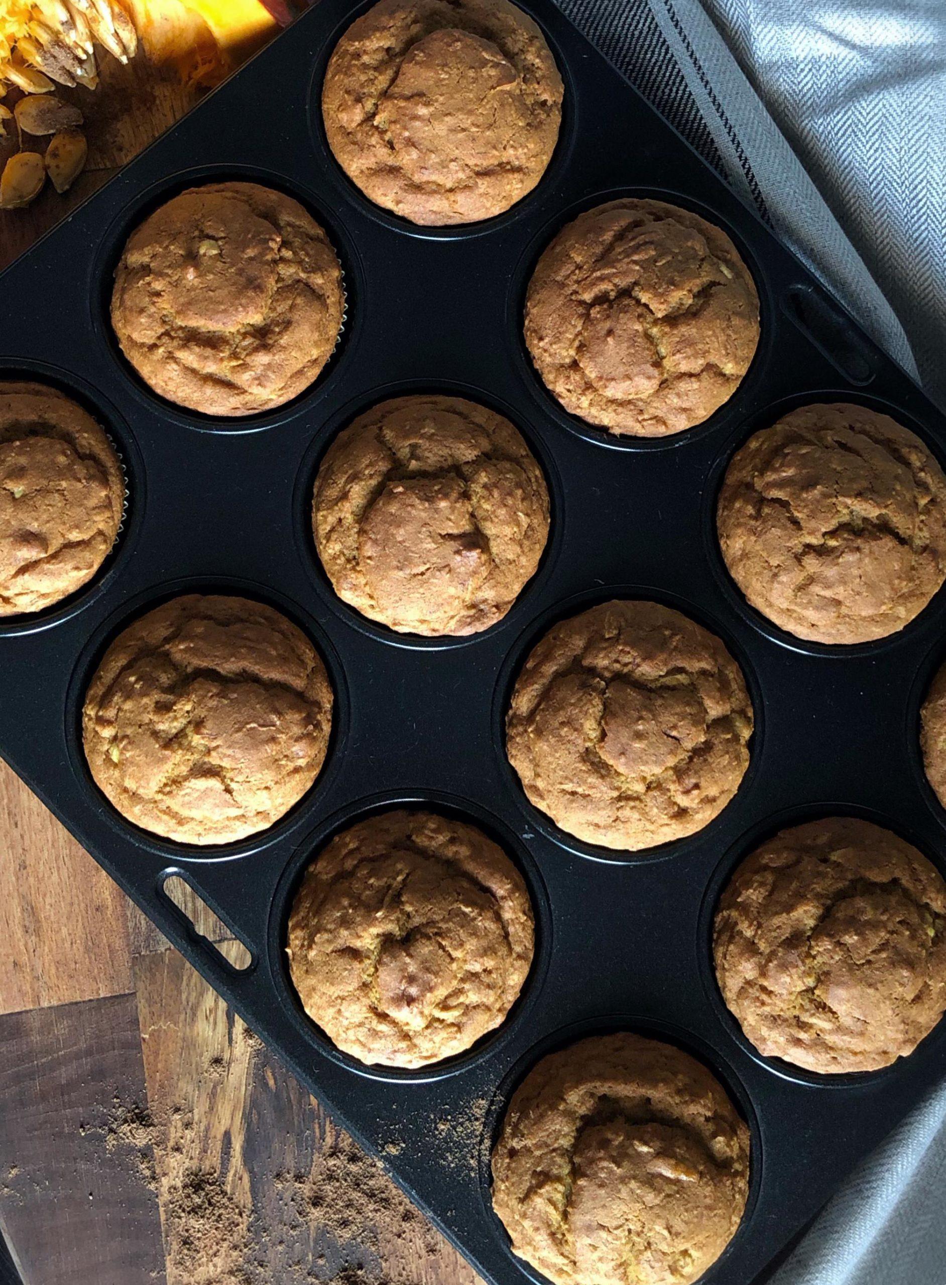 Kürbiscupcakes im Muffinsblech