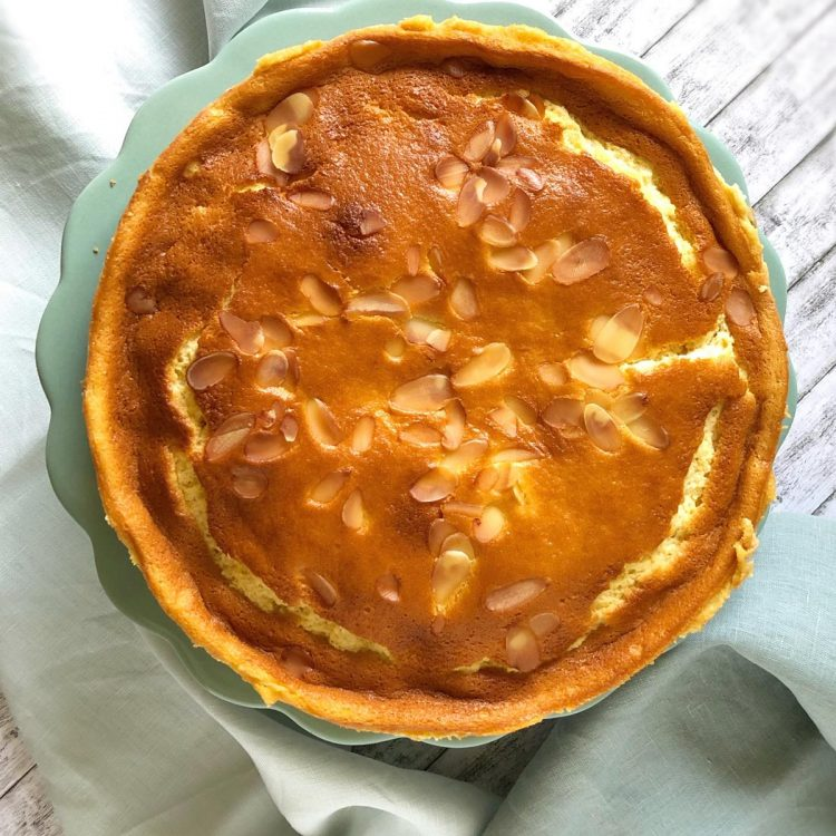 Apfel-Schichtkuchen glutenfrei Draufsicht