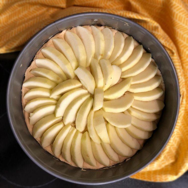 Apfel-Schichtkuchen glutenfrei Apfelansicht