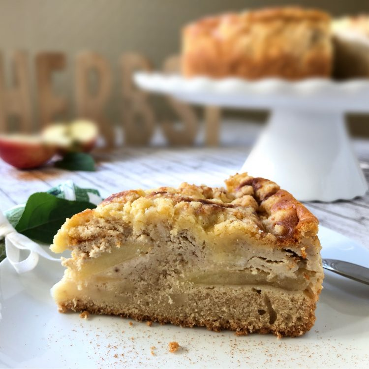 Apfel-Rahmkuchen Anschnitt