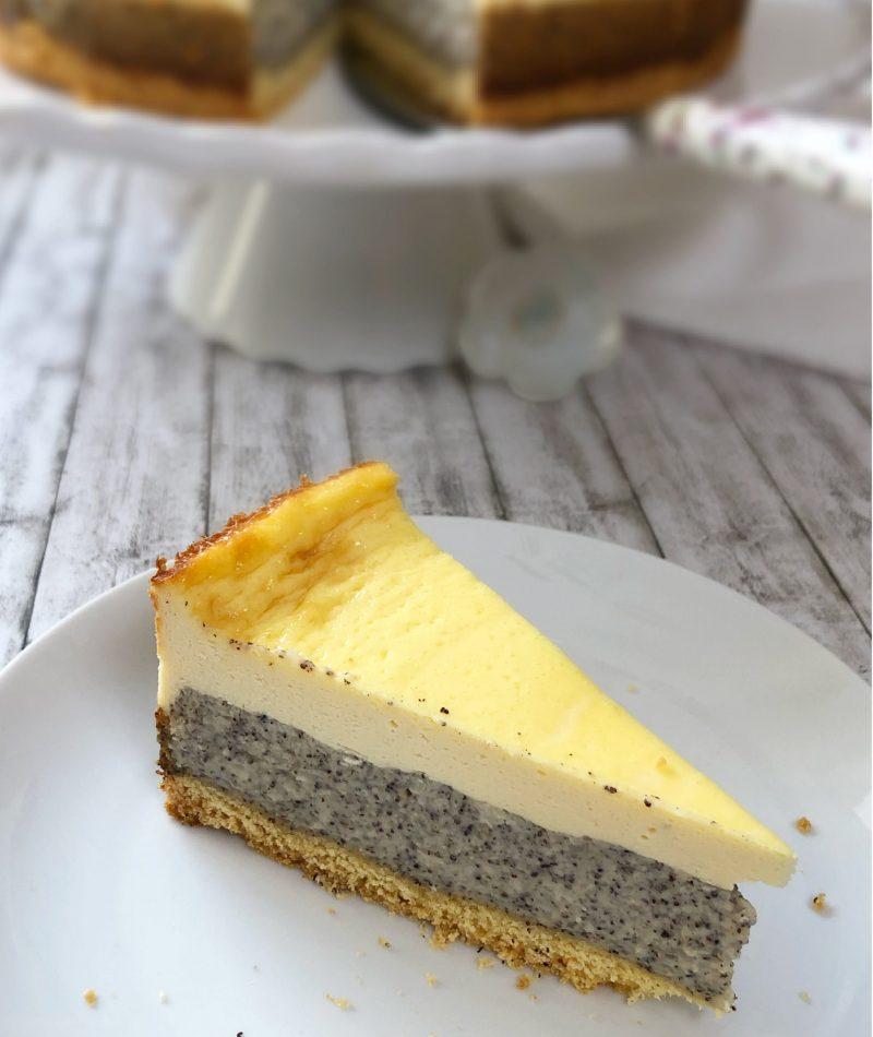 Schmand-Mohn-Kuchen Stück glutenfrei